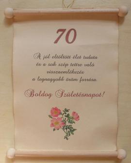 70. születésnapra